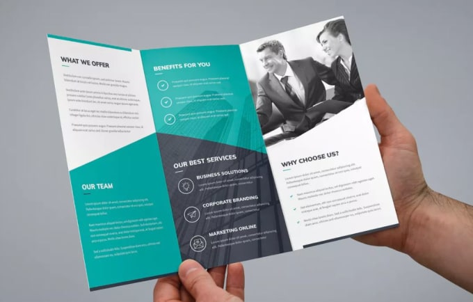 design a professional business brochure and flyer by jaydip jd
