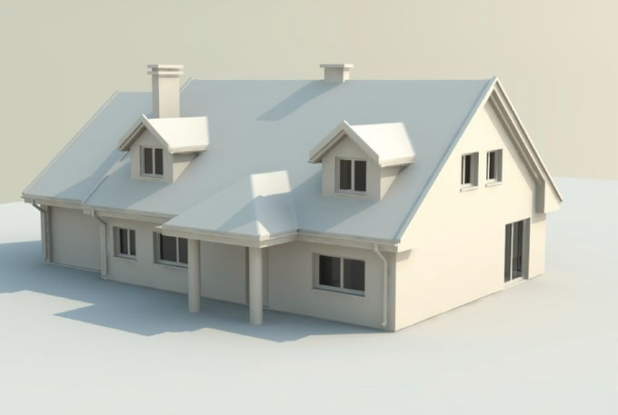 Architectica I Will Create One Color Simple 3d House Model For 20 On Wwwfiverrcom