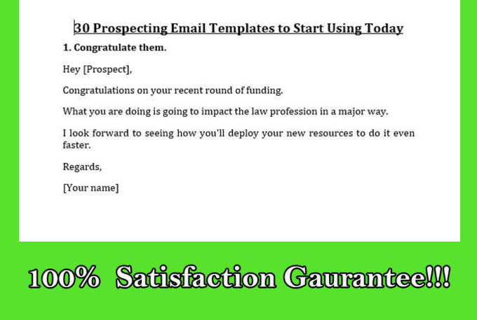 send 150 sales email copy templates by createdeck