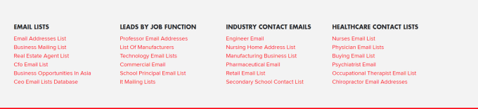 list of company contact email number USA