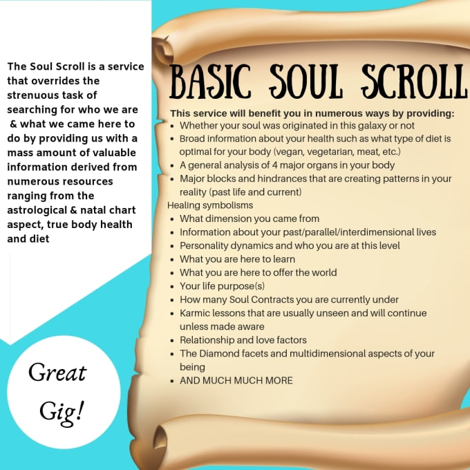 c720d64581 give you a basic soul scroll reading