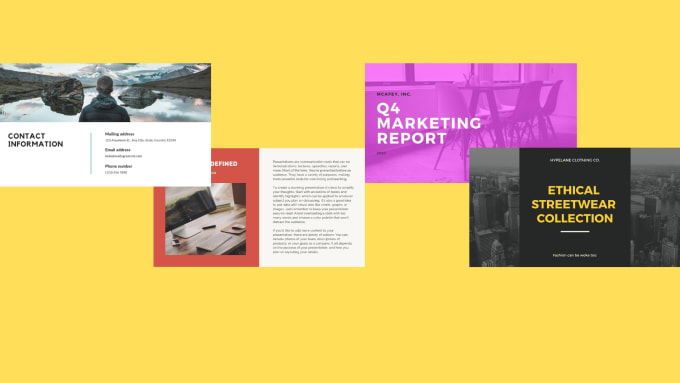 design a modern powerpoint presentation for you