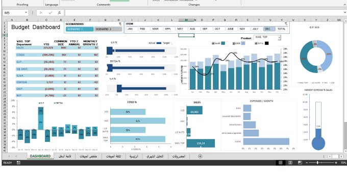 Financial Analysis Financial Dashboard By Mohamedupp