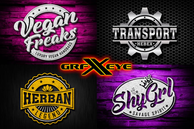 12bbff44 Design retro, hipster,badge and vintage logo in 6 hours by Graphixeye
