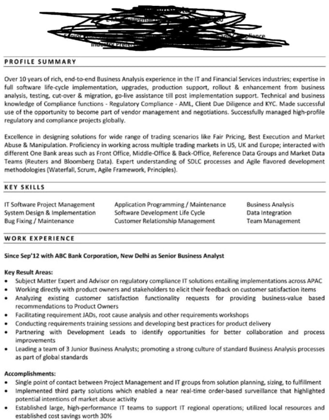 write a business professional resume and cover letter