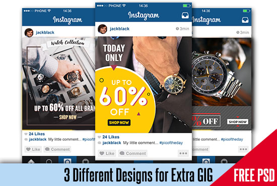design an unique instagram ads and banner design