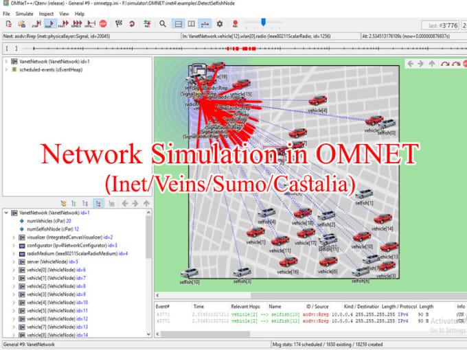 do network simulation on ns2, ns3, omnet, optisystem, and contiki cooja