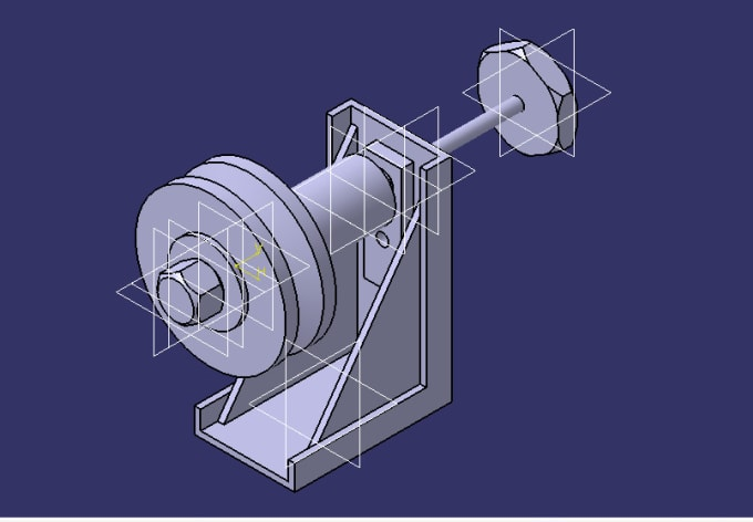 do part design,assembly,3d modeling in catia v5 and autocad