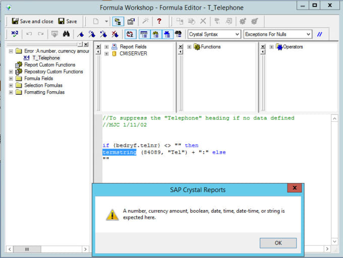 create or fix your crystal reports