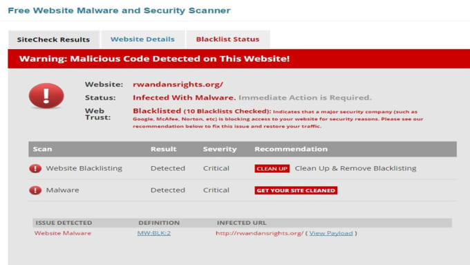 remove malware or virus and fix hacked wordpress site