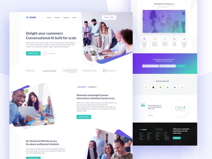 design psd web template or psd landing page