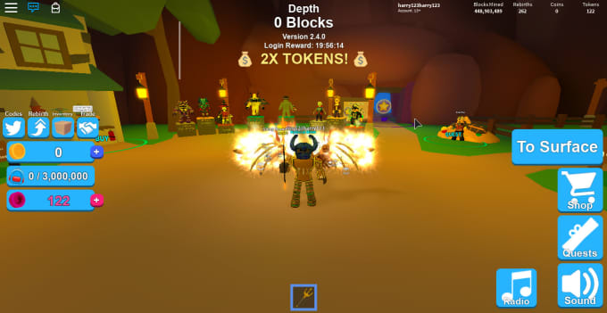 give you mythical hat crates on mining simulator roblox