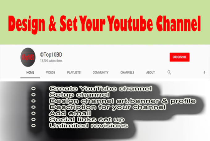 mdsylhet : I will create a profession youtube channel for $10 on  www fiverr com