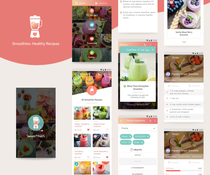 design modern, clean UI for ios or android apps
