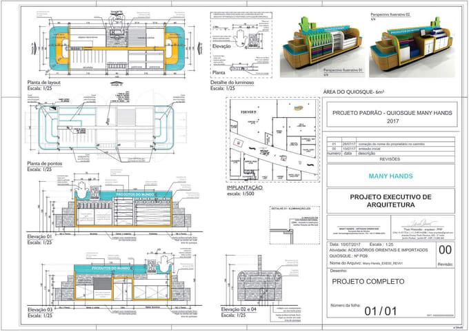do kiosk design and blueprints