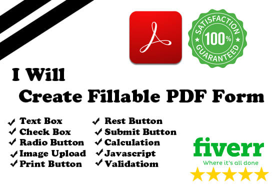 create or edit fillable PDF forms