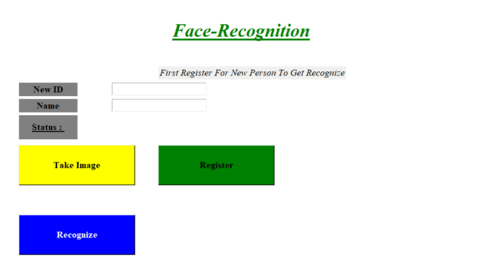 Project Report On Face Recognition Using Python