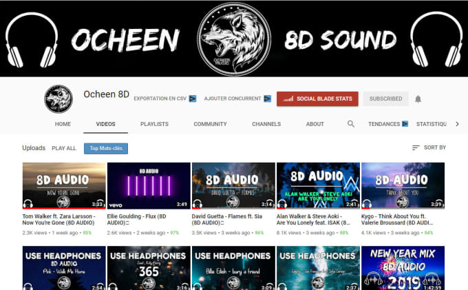 convert any song to 8d version and upload it in my channel