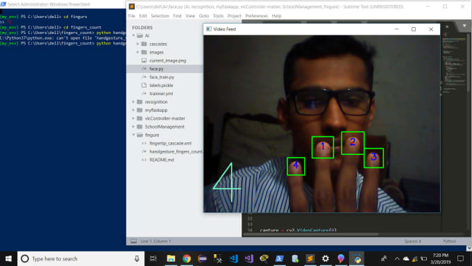 ferozkhan481 : I will develop gesture recognition and voice apps using  python numpy tensorflow opencv for $40 on www fiverr com