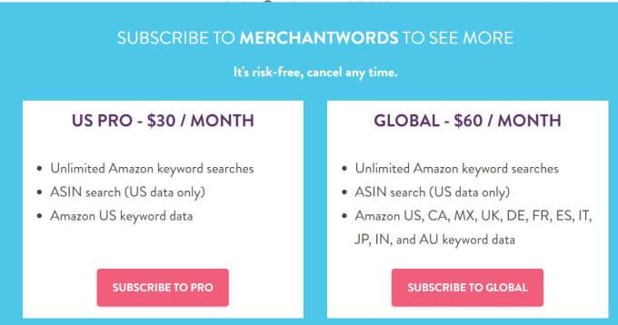 merchantwords free
