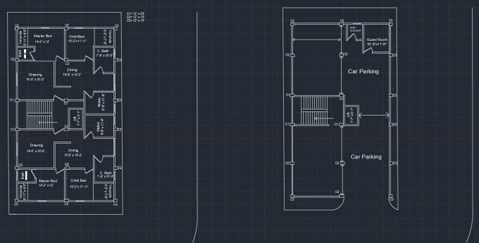 do your working drawing on autocad