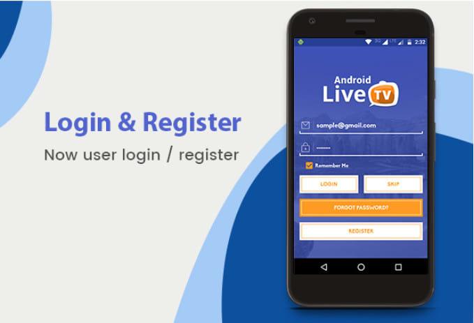 create premium live TV apk with admin panel