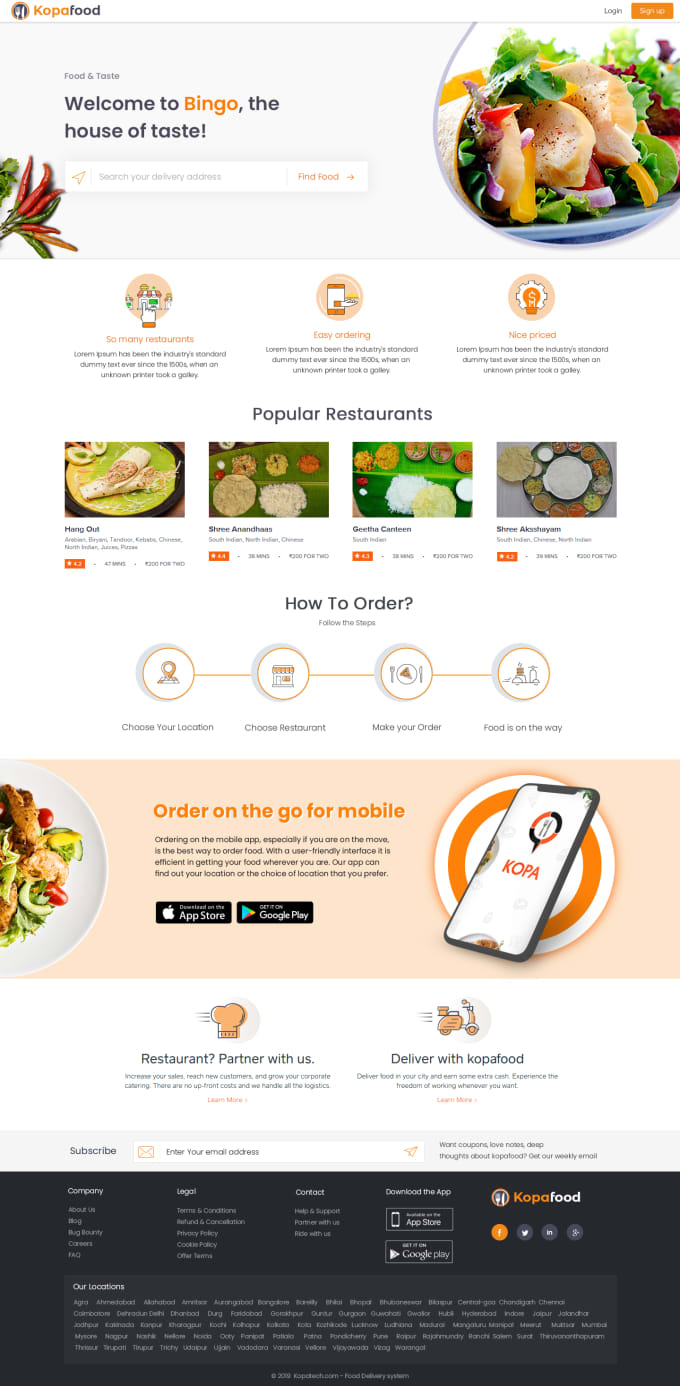 kopatech : I will multi restaurant online food ordering system for $995 on  www fiverr com
