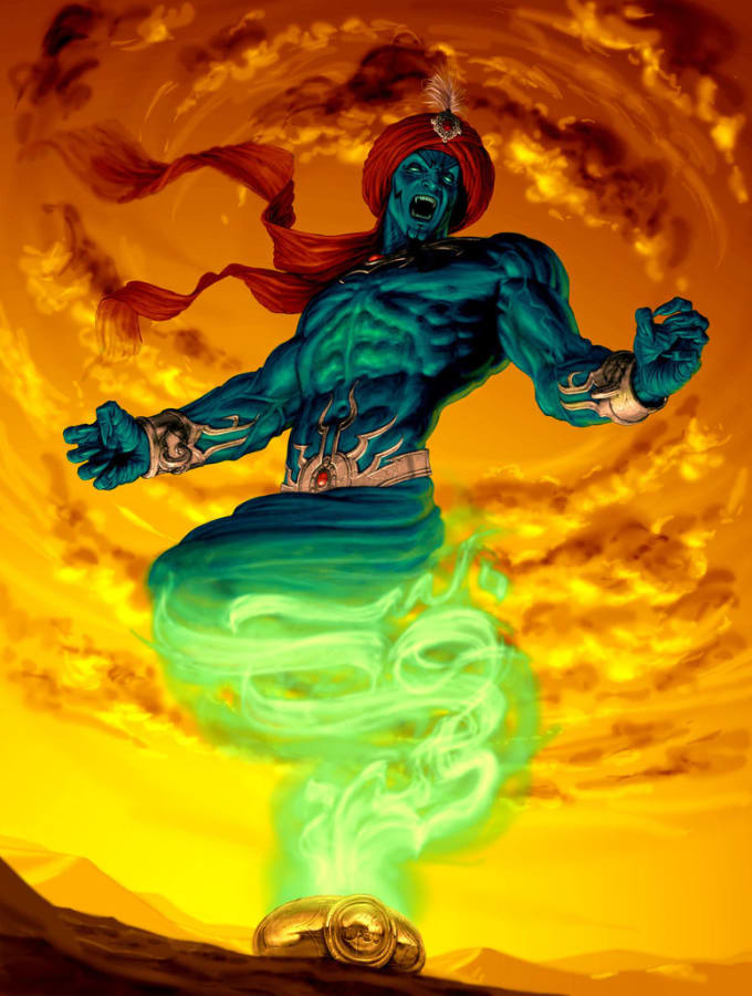 cast 5 wishes from jinn spell to grant your 5 wishes