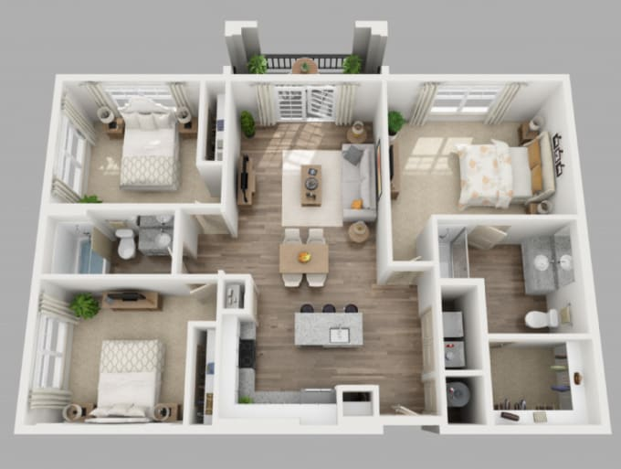 redraw the house plans and will also make 2d plans and 3d house models