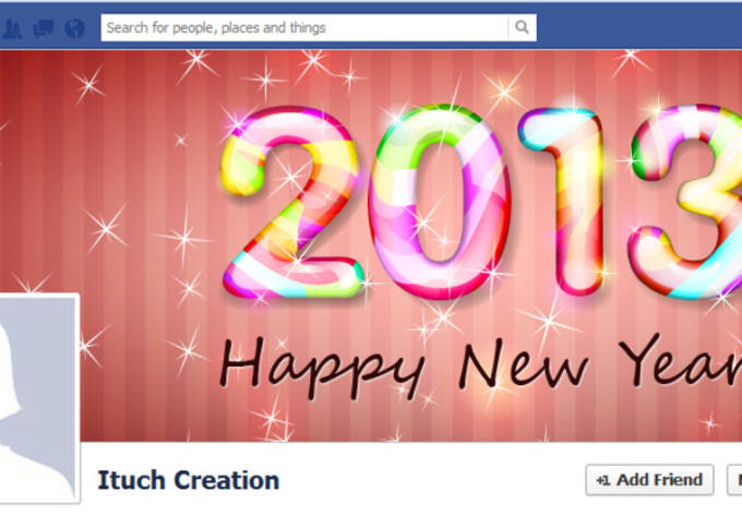design creative attractive modern look happy new year facebook fan page banners for yourself
