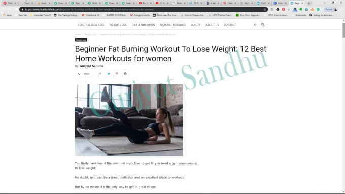 write original, engaging, high quality articles on health, nutrition and  fitness