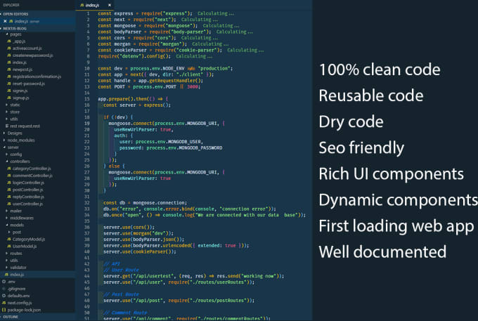 develop next js web application from scratch