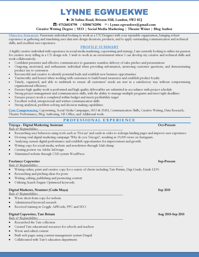 edit, write your nursing resumes CV and cover letter