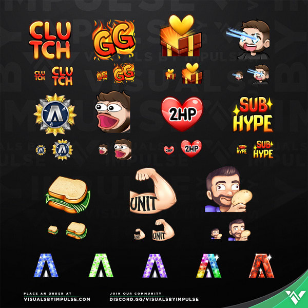 create twitch or discord emotes,badges, discord bot, discord member,  marketing