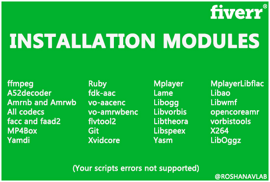 roshanavlab : I will install ffmpeg on your linux server for $10 on  www fiverr com