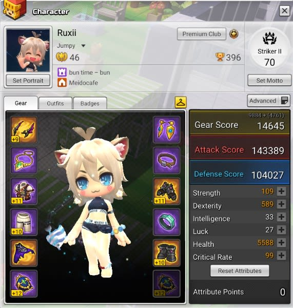 train your maplestory 2 character