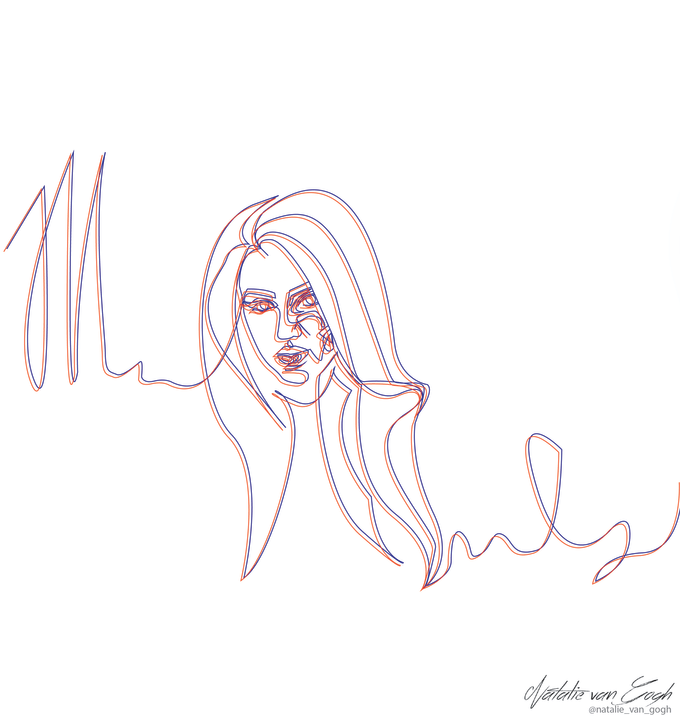 nataliveleska : I will make you a one line art or anaglyph drawing for $5  on www fiverr com