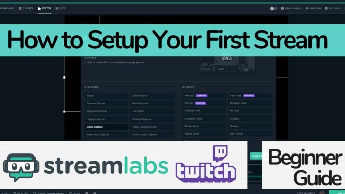 setup your streamlabs obs or obs studio for you