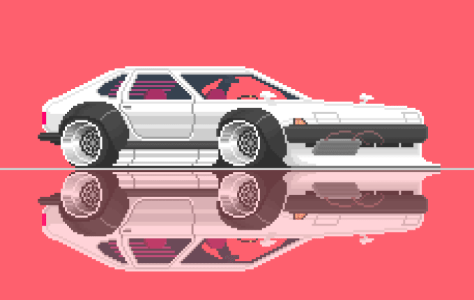 Draw Your Or A Completely Made Up Car In Pixel Art