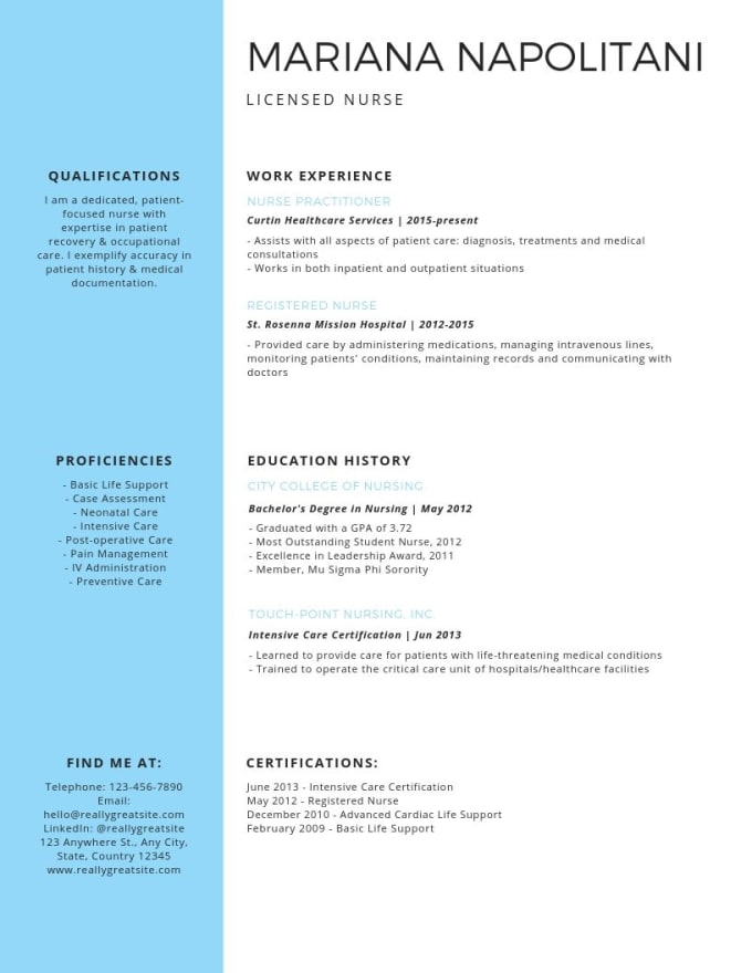 create professional resume and cover letter with keywords