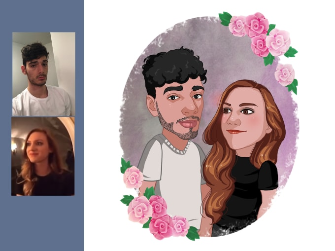 draw you in high quality  fun  and unique caricature style