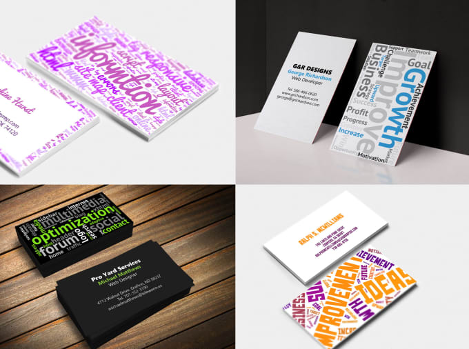 Design a word cloud business card by sheendesign design a word cloud business card reheart Choice Image