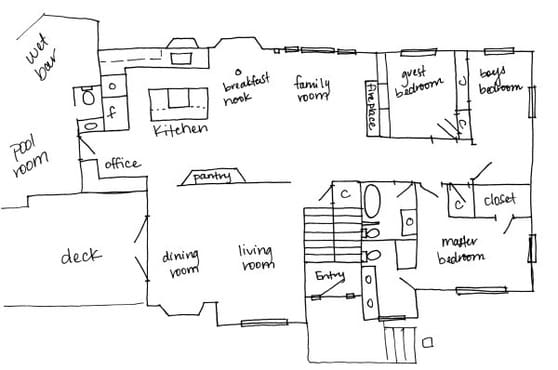 draw your building plans in autocad from freehand sketches by froyo 0405. Black Bedroom Furniture Sets. Home Design Ideas