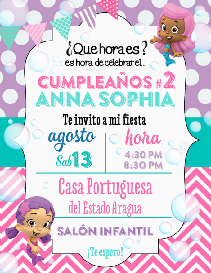 Design An Original Invitation Card For You Pary Or Events