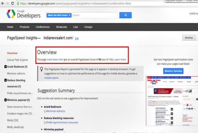 I will speed up wordpress blog google page speed insight