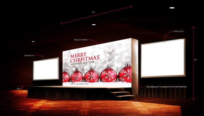 design CHRISTMAS backdrop banner for your event stage