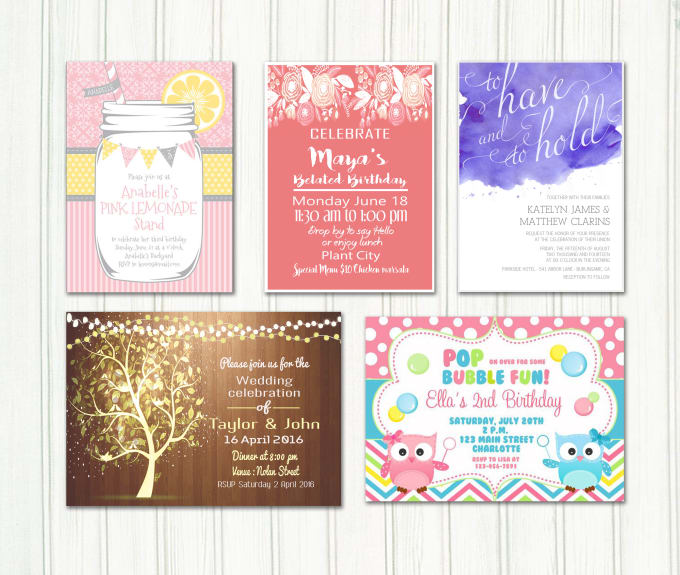 Design Invitation Cards For Your Events By Fatimaa15