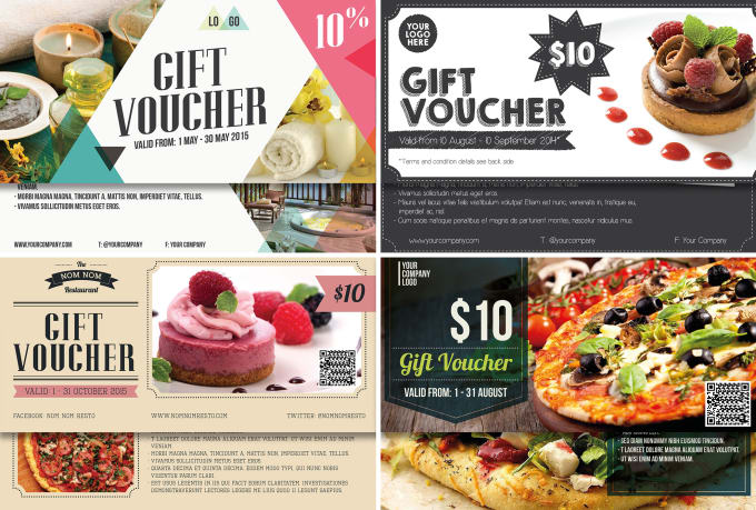 make gift voucher card for any of your business by apriliapratama