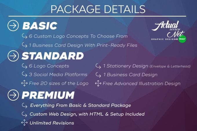 do a complete logo design branding for your business