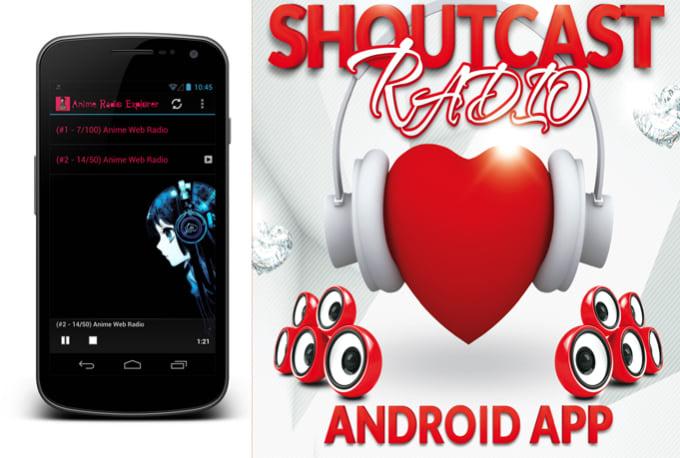 shoutcast Icecast Radio into Android APP